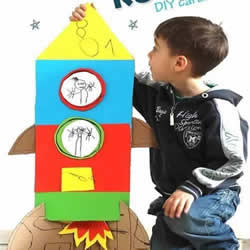 手工火箭的制作方法 自制瓦楞纸火箭模型图片