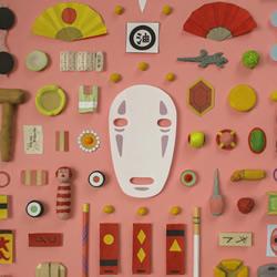 超轻粘土制作道具 重新绘制宫崎骏电影海报
