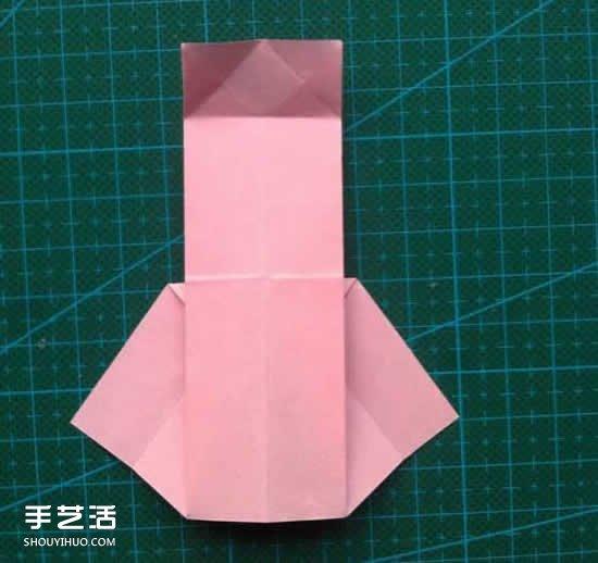 儿童折纸裙子图解教程