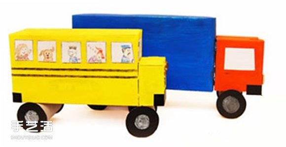 纸盒做汽车步骤和图片