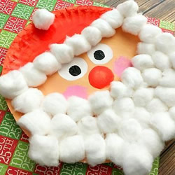 纸盘圣诞老人的做法 幼儿手工制作圣诞老人
