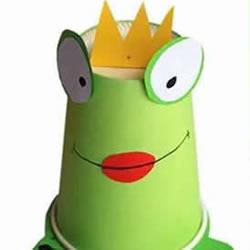 一次性纸杯手工制作青蛙 幼儿青蛙王子制作方法