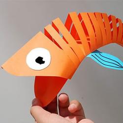 大嘴鱼玩具的制作方法 简单剪纸制作大嘴鱼