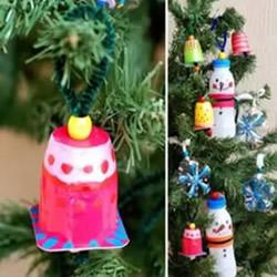 幼儿废旧物品手工制作 可爱的圣诞树挂饰DIY