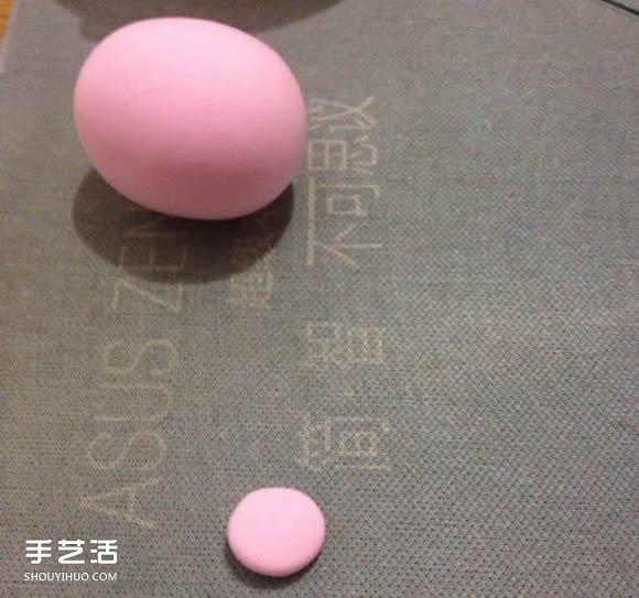 超轻粘土小粉猪diy图解 手工粘土小猪的做法