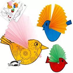 幼儿园立体小鸟的制作 简单小鸟的做法用纸做