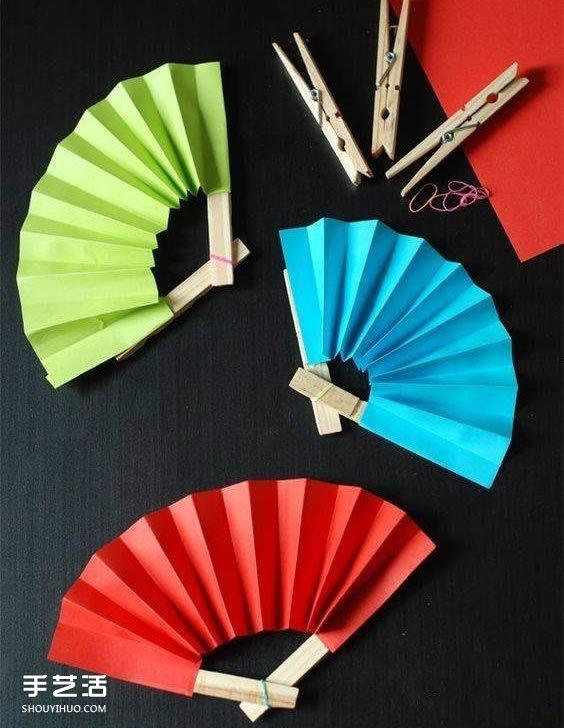 Paint Color Fan Crafts