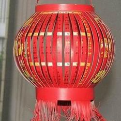 幼儿大红灯笼的做法 挂历制作灯笼的方法图解