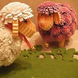 衍纸绵羊的制作方法 立体绵羊卷纸图解教程