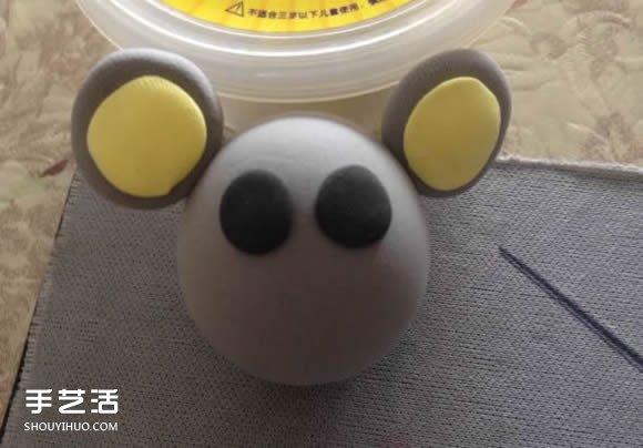 超轻粘土小老鼠diy 用粘土做小老鼠图片教程