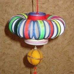 瓶盖做灯笼的方法图解 简单灯笼DIY制作图片