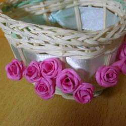 手揉纸玫瑰花的折法 简易玫瑰花折纸图解