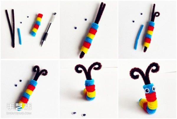 毛毛虫手工制作图片 幼儿扭扭棒毛毛虫制作方法