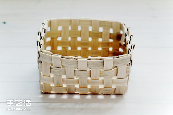 藤编收纳筐教程详解 手工藤编收纳筐DIY图解 -  www.shouyihuo.com