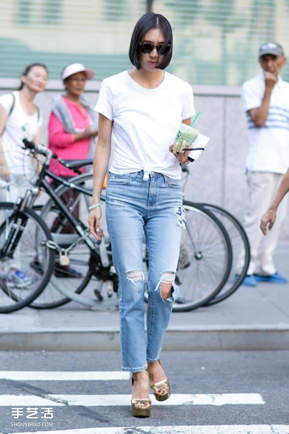 复古与时尚的完美配搭 高腰牛仔裤的穿搭准则 -  www.shouyihuo.com