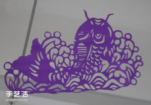 儿童窗花剪纸图案欣赏 简单春节窗花剪纸图片 -  www.shouyihuo.com