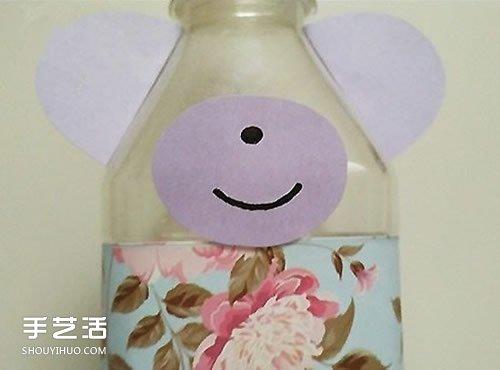 矿泉水瓶制作有趣的小熊摆件图片