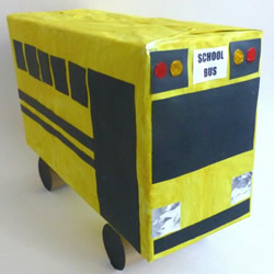鞋盒做校车的方法教程 幼儿校车手工制作图解