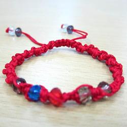 单向平结手链编法图解 红绳手链的编法用平结