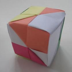 手工折纸正方体怎么做 正方体的折叠方法图解