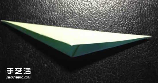 四瓣花的折法图解步骤 手工折纸四瓣花的方法 -  www.shouyihuo.com