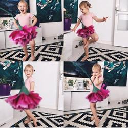 创意儿童照:小女孩穿上妈妈做的可爱蔬果礼服