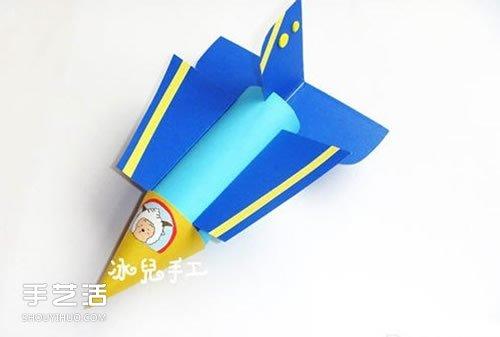 简单飞机模型制作过程 卫生纸筒手工制作飞机 -  www.shouyihuo.com