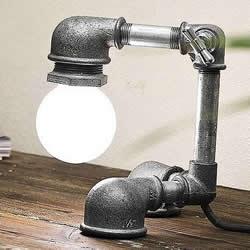 金属管道材料DIY制作个性台灯的作品图片