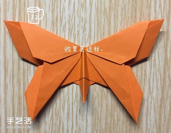 手工蝴蝶折纸步骤图解 折蝴蝶的方法详细过程(2)