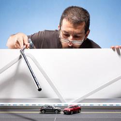 1:43的汽车世界!微型摄影师打造奥迪沙漠广告