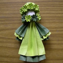 折纸娃娃的制作方法 穿裙子娃娃的折法图解