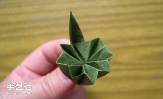 折纸娃娃的制作方法 穿裙子娃娃的折法图解 - www.shougong.com