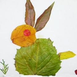 简单的树叶贴画怎么做 幼儿简单树叶贴画图片