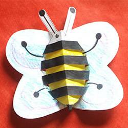 幼儿园手工制作蜜蜂 小蜜蜂手工制作图片
