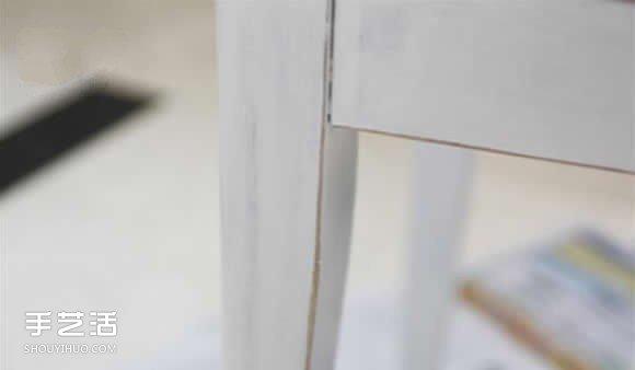 梳妆台椅凳改造DIY 上漆再做个椅子套超完美 -  www.shouyihuo.com