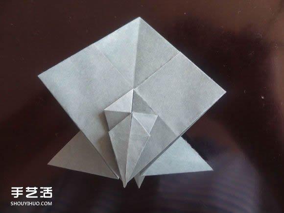 西方龙折纸教程图解 折纸带翅膀龙的方法步骤
