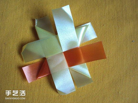 彩带风铃制作图解:星星/丝星蝶/圆环圈/灯笼(3)