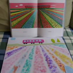 儿童手指画+剪纸贴画教程 制作出漂亮的花田