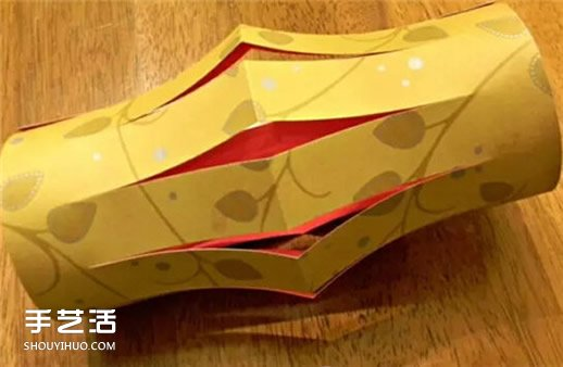 儿童卡纸灯笼制作方法 卡纸花灯怎么做图解 -  www.shouyihuo.com