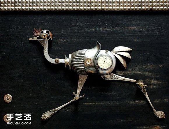 铁皮垃圾变蒸汽朋克动物 酷炫的变废为宝小玩意 -  www.shouyihuo.com