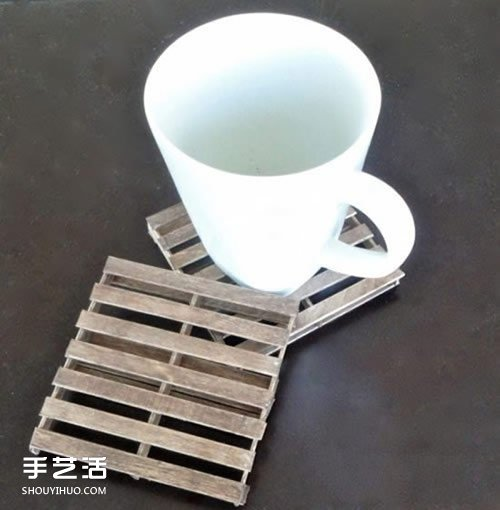 雪糕棍手工制作杯垫 自制雪糕棍杯垫DIY教程 -  www.shouyihuo.com