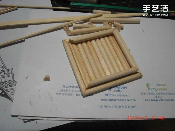 筷子和竹签制作埃菲尔铁塔模型的详细图解教程 -  www.shouyihuo.com