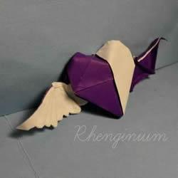天使恶魔心折纸教程 折纸天使恶魔心步骤图解