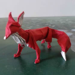如何折纸立体的狐狸 手工狐狸的折纸方法图解