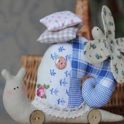 不织布制作蜗牛公仔 手工布艺蜗牛玩偶图解