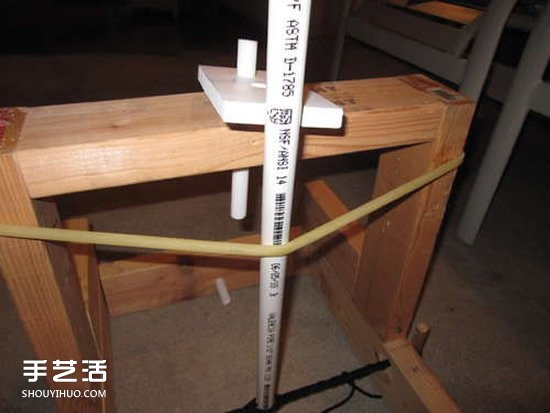 无敌老爹的小发明:简易投石机的制作方法  -  www.shouyihuo.com