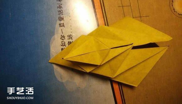 中村枫虎的折纸教程 详细立体老虎的折纸图解 - www.shougong.com