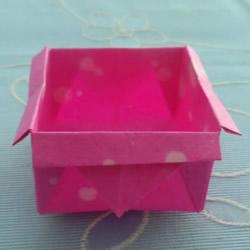 儿童折纸盒子的教程 简单纸盒子怎么折图解