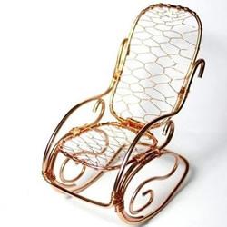 金属线摇摆椅的制作 手工艺品铝线藤椅DIY