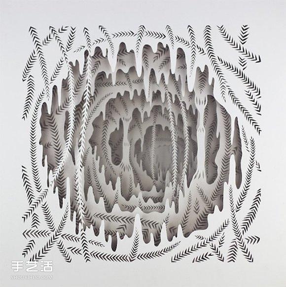 彷彿夢境的立體紙雕作品 給人以無限的距離感